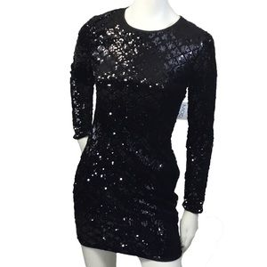 mod Dresses - MOD sequin dress open back long sleeve